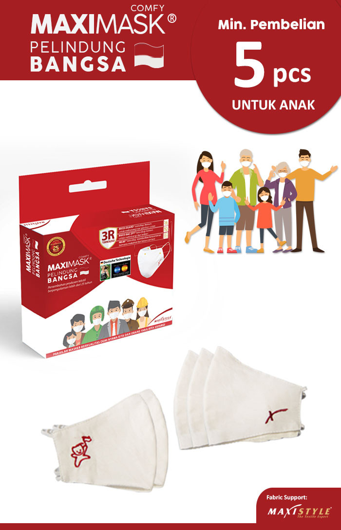 Masker Kain 2 Ply Maximask Comfy - Anak